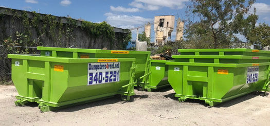Dumpsters 4 Rent offers 10 yard, 15 yard and 20 yard dumpster rental in Fort Myers, and surrounding Florida cities. Great prices, locally owned. ~ We make renting dumpsters simple, cost-effective and convenient!